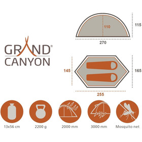 Grand Canyon Cardova 1 - Tente - olive